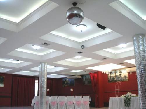 Светодиодное освещение в банкетном зале ресторана