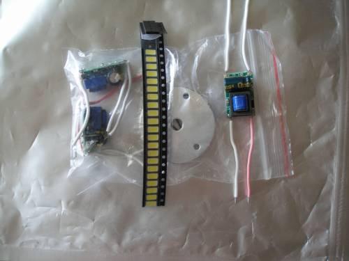 Детали для самостоятельной сборки лампы на светодиодах SMD 5730
