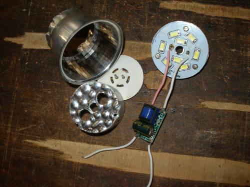 LED лампа своими руками на светодиодах SMD 5730 в корпусе от КЛЛ